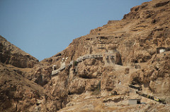 Monastery on Mt Temptation where the devil tempted Jesus on the mountain.